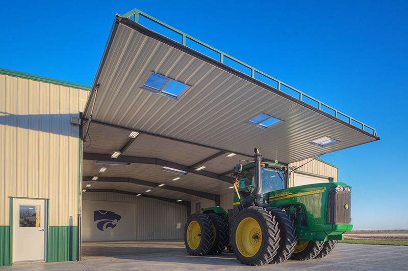 Smith-door-open-and-tractor